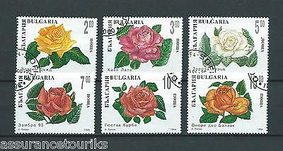 BULGARIE - 1994 YT 3593 à 3598 ROSES - TIMBRES OBL. / USED