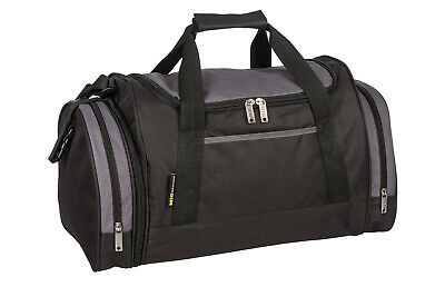 Cabin Size Holdall Bag TRAVEL SPORTS GYM WORK SCHOOL FITNESS EXERCISE BLACK 07M