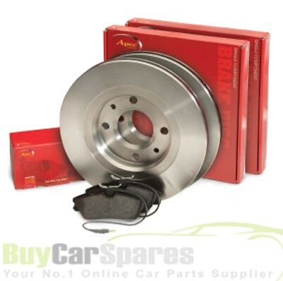 Rear Apec Brake Disc (Pair) and Pads Set for AUDI A6 2 ltr