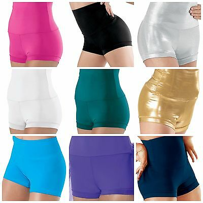 NEW Dance Gymnastics Cheer High Waisted Booty Mini Shorts Child or Adult