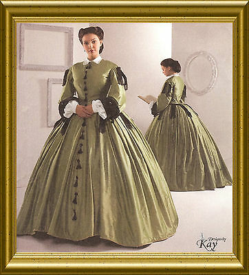 OOP PATTERN Civil War Southern Belle dress Historical Simplicity 2887 sz 8-24