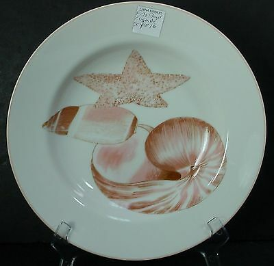 """FITZ & FLOYD china COQUILLE smooth Soup or Salad Bowl #1E @ 9-1/4"""" - Pink Shells"""
