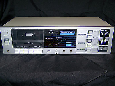 Sanyo RD S30 AMSS Stereo Cassette Deck  METAL TAPE