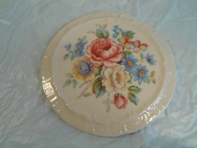 Antique Trivet Fine Old Porcelain With Pretty Spring Flowers Maker Unknown nice