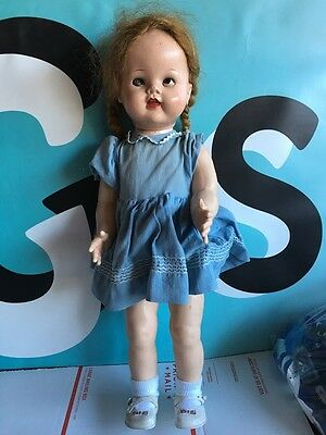 """Ideal Doll Saucy Walker 22"""" with Flirty Eyes NEEDS REPAIRS"""