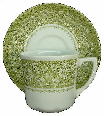 """J&G MEAKIN china Sherwood Green CUP & SAUCER Set 3"""" Cup"""