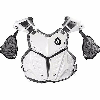 SIXSIXONE SIX SIX ONE chest protector white MTB BMX ATV MX off road adult Large