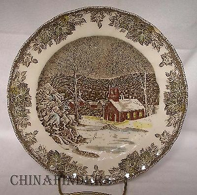 JOHNSON BROTHERS Made in England FRIENDLY VILLAGE Dinner Plate @ 9-7/8""