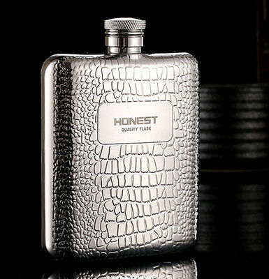 6oz mosaic man's camping portable stainless steel flask whiskey wine bottle