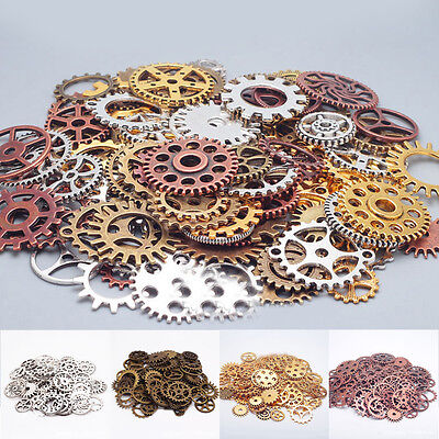 Lot 25-100 Steampunk Cog Old Parts Pieces Tiny Gears Wheels Vintage antique