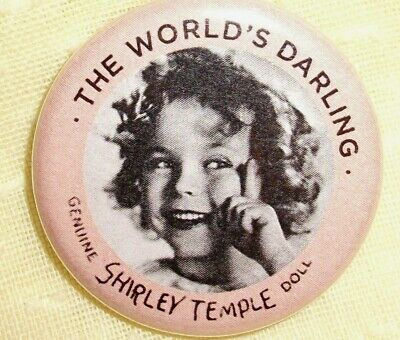 """Collectible repro PIN 1.5"""" replacement for your Composition SHIRLEY TEMPLE doll"""