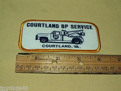 Courtland BP Service Patch Used Embroidered Chevy Wrecker Vintage Retangular