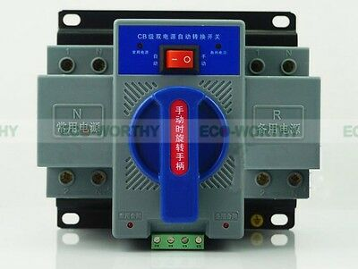 New 2P 63A 220V 50/60HZ MCB type Dual Power Automatic Transfer Switch ATS