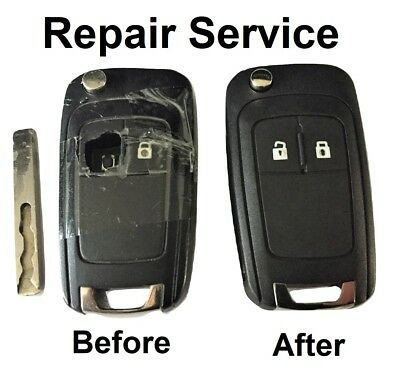 For Opel Vauxhall Insignia Astra 3 button remote key Repair Refurbish Service