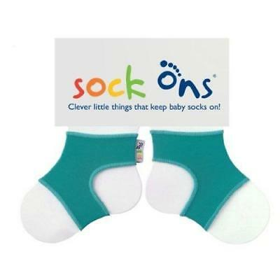 Hippychick Sock On's Brights Baby Footwear Turquoise 1xPair Size 0-6 Months