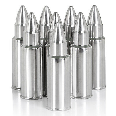 TRIXES Stainless Steel Bullet Shaped Whiskey Stones No Water Ice