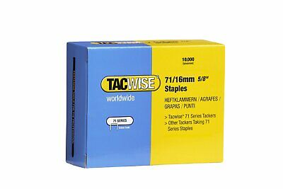 "Tacwise Series 71 16mm 5/8"" Galvanised Staples  0372 Box Of 10000 Upholstery"