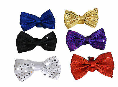 Sequin Bow Ties School Prom Bow Ties Black Sequin Bow Ties Dancewear Fancy Dress