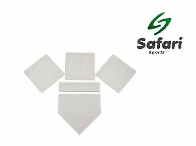Throw Down Base Set - Baseball bases Rubber Surface Set Of 5 - Outdoor Team