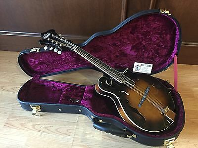 NEW MORGAN MONROE MM-550F MANDOLIN w/ HARDSHELL CASE- HAND CARVED SPRUCE + MAPLE