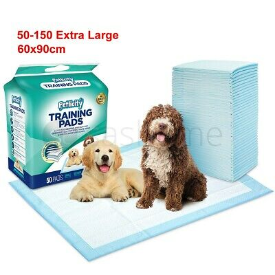 50-150 X- LARGE PUPPY TRAINER TRAINING PADS TOILET PEE WEE MATS DOG CAT 60x90CM