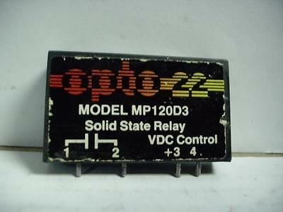 Opto 22 Mp120D3 Solid State Relay 120Vac 3A Quantity!!