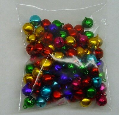 LOT 1000 JINGLE BELLS ~ MIXED JEWEL Tones Christmas Color Beads Drops Charms 8mm