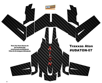 Carbon Fiber Traxxas Aton Plus Body Wrap Decal Skin Sticker Canopy Ultradecal