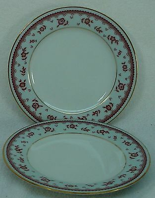 NORITAKE china CELESTE 2670 pattern Bread Butter Plate - Set of Two (2) @ 6-1/4""