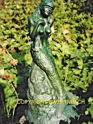 New Rubber Latex Mould Moulds Mold To Make Garden Cement Mythical Mermaid Statue