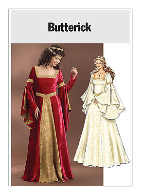 PATTERN for Medieval dress Butterick 4571 Guinevere 14 16 18 20 Rennaissance SCA