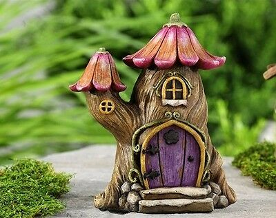 Miniature Fairytale Tree House  Fairy  Dollhouse Gnome Hobbit Garden 706073