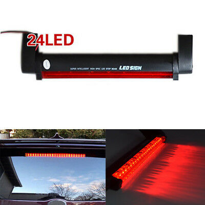 1x Car Auto Red 24LED 12V High Mount Third 3RD Brake Stop Tail Light Lamp Chic