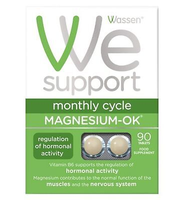 Wassen We Support Monthly Cycle Magnesium-OK 90 Tablets Specially for Women