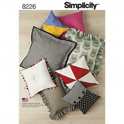 Simplicity SEWING PATTERN 8226 Easy To Sew Cushions/Pillows