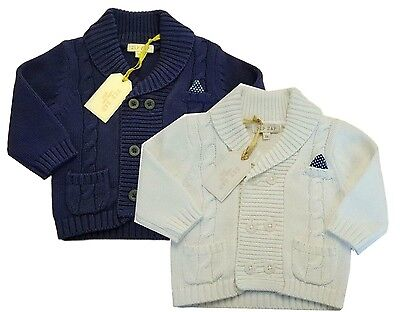 Boys Baby Cardigan Knitted Jumper Sweater Jacket Smart Casual ZipZap Boutique