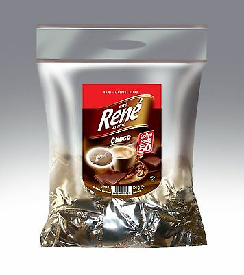 Philips Senseo 50 x Café Rene Crème CHOCOLATE Coffee Pads Bags Pods