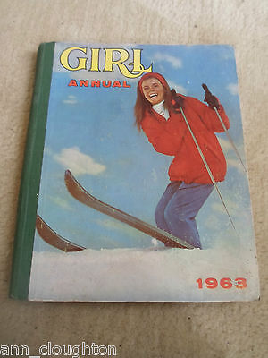 RARE Vintage Retro Book GIRL ANNUAL Number 11 1963 + Illustrated