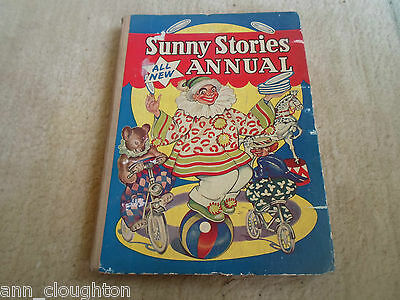 RARE Vintage Retro Book SUNNY STORIES ALL NEW ANNUAL Circa 1956 + Illustrated
