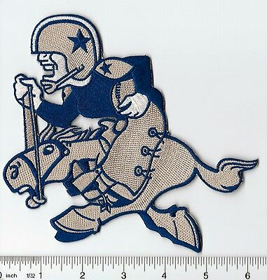 Dallas Cowboys Throwback Old Logo 6' high Patch (sew or iron on)
