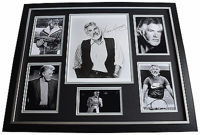 Kenny Rogers SIGNED Framed Photo Autograph Huge display Country Music AFTAL COA