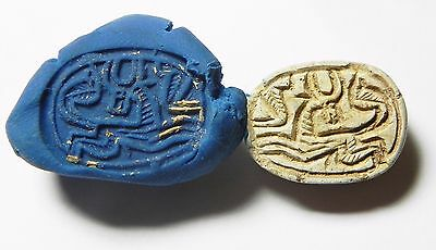 Zurqieh -Af638- Ancient Egypt ,2Nd Intermediate Stone Scarab. 1782 - 1570 B.c • CAD $284.59