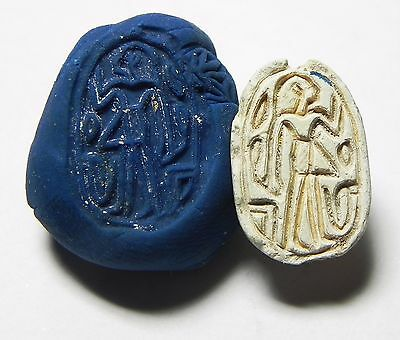 Zurqieh -Af645- Ancient Egypt ,2Nd Intermediate Stone Scarab. 1782 - 1570 B.c