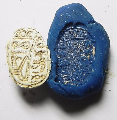 Zurqieh -Af650- Ancient Egypt ,2Nd Intermediate Stone Scarab. 1782 - 1570 B.c