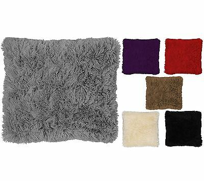 Faux Fur Cushion Covers Super Soft Shaggy Cuddly 43x43cm