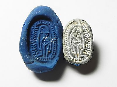 Zurqieh -Af661- Ancient Egypt ,2Nd Intermediate Stone Scarab. 1782 - 1570 B.c