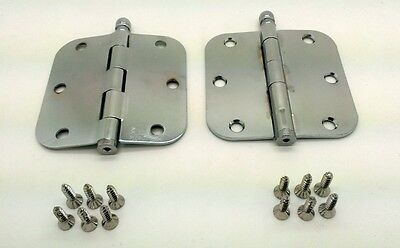 Lot of 2 Ives by Schlage Residential Steel Hinges 1011F-625E Polished Chrome NEW