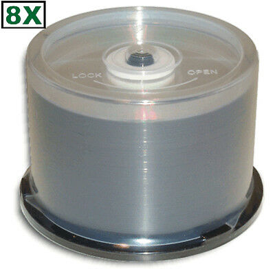 50-Pak MBI (Moser Baer) Shiny-Silver Top =DOUBLE LAYER= 8X 8.5GB DL DVD+R's