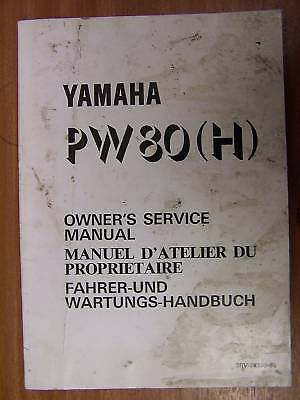 Yamaha PW80H Owners Service Manual