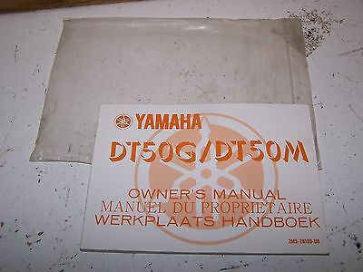 Yamaha DT DT50 G M Owners Manual 1979